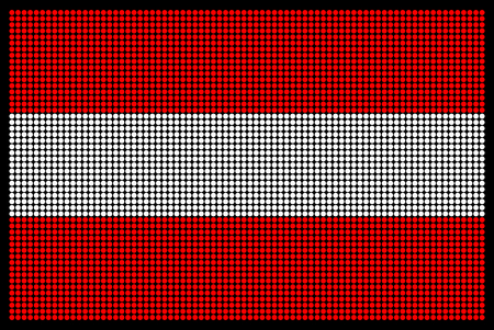 led screen: Austrian flag on the LED screen