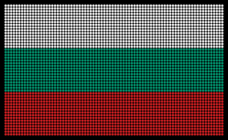 led screen: Bulgarian flag on the LED screen