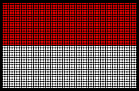 led screen: Indonesian flag on the LED screen