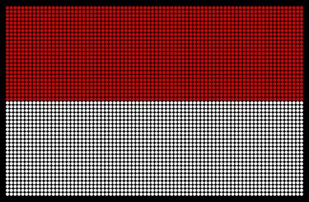 indonesisch: Indonesische vlag op het LED-scherm