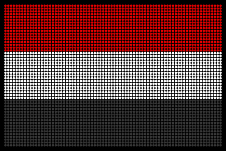 led screen: Yemeni flag on the LED screen