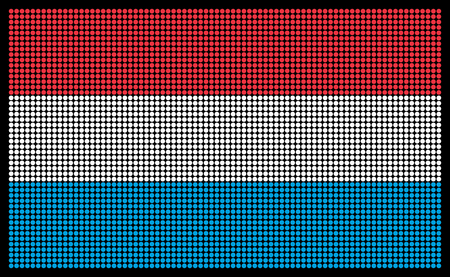 led screen: Luxembourg flag on the LED screen Illustration