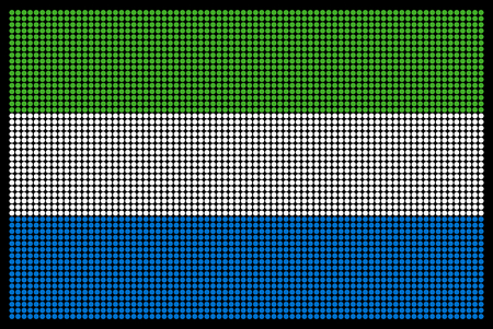 sierra: Sierra Leone flag on the LED screen