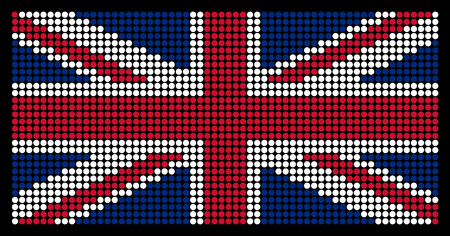 led screen: British flag on the LED screen