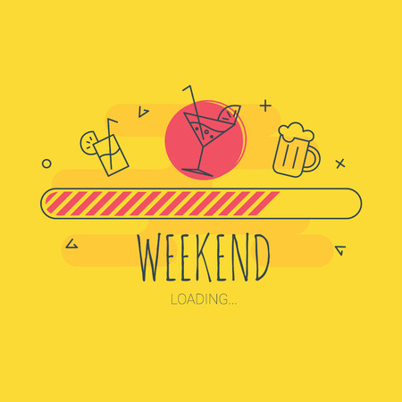 Weekend loading - vector illustration