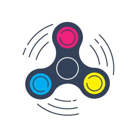 alloy: Fidget spinner icon - toy for stress relief and improve concentration.