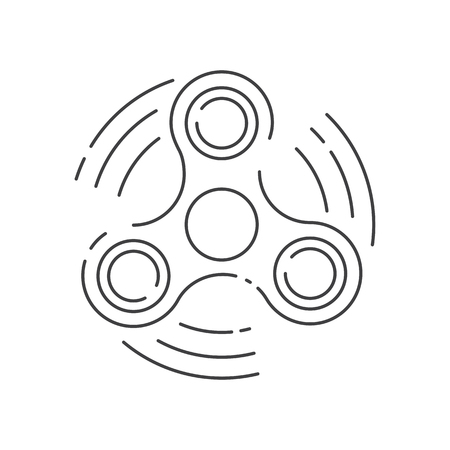 Fidget spinner icon - toy for stress relief and improve concentration.