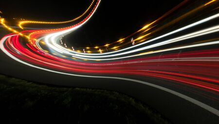 lights of cars with night. abstract