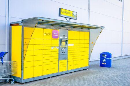 Tarnowskie Góry, Poland - 14/04/2019 - Inpost parcel locker