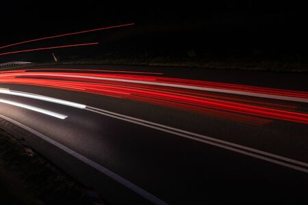 lights of cars with night. Stock Photo