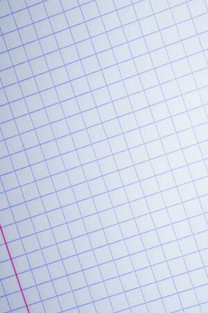 sheet of checkered paper texture or background