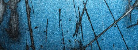 old metal painted with blue paint Zdjęcie Seryjne