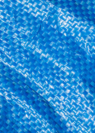 blue plastic bag surface. texture or background