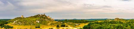 castle ruins on the mountain in Olsztyn