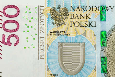 Polish 500 zloty banknote with visible details