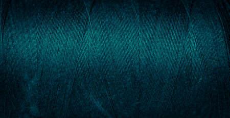 blue cotton threads with visible details. background Foto de archivo