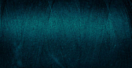 blue cotton threads with visible details. background Stock Photo