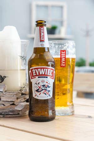 Miedzyzdroje, Poland -05.09.2021 - beer from the zywiec company Standard-Bild
