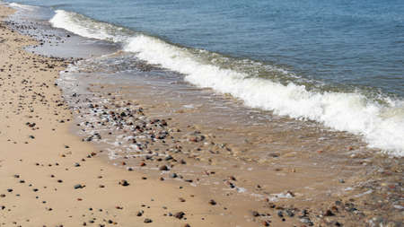 sea waves and stones on the beach