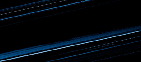 blue car lights at night. long exposure Standard-Bild