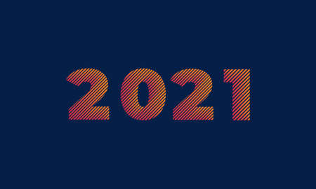 2021 Happy new year banner, vector