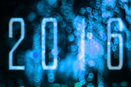 new year background with color bokeh soft focus