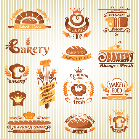 Set of bakery labels, badges and design elements