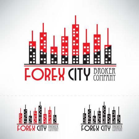 broker: diseño de la divisa. empresa Broker concepto de icono.