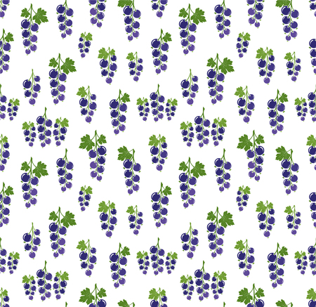 currant: Currant pattern. Vector seamless background with fruit icons.