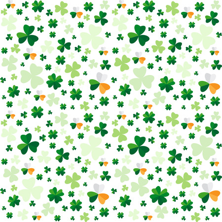 seamless clover: Seamless pattern from clover leaves. Vector background Illustration