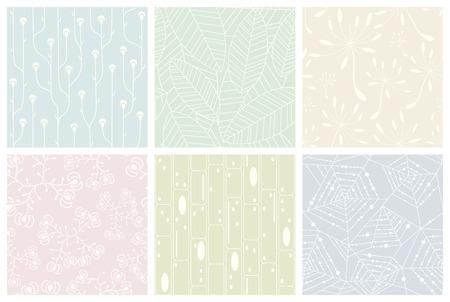 Set of organic patterns. Seamless vector backgrounds. Ilustração