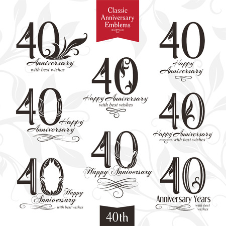 60th Anniversary Emblems Templates Of Anniversary Birthday