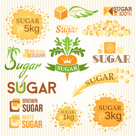 Sugar decoration set. Labels, icons and emblems Stock fotó - 62600933