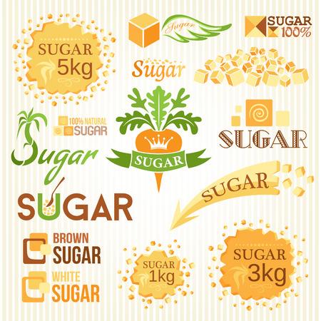 Zuckerdekoration gesetzt. Labels, Symbole und Embleme