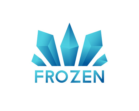 freeze: Freeze crystal ice abstract vector icon. Logo for frozen products