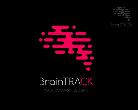 iq: Brain icon. Abstract shape of brain in trendy style.