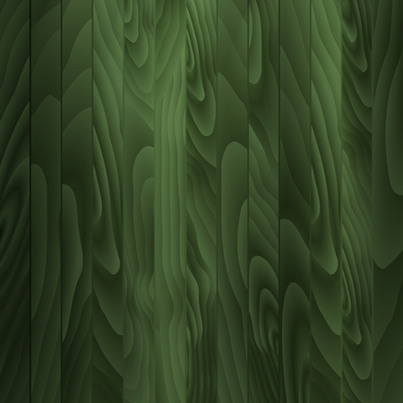ligneous: Wooden plank background in green color.