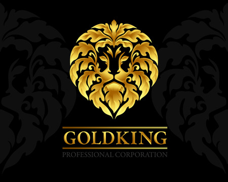 Lion logo template. Ornamental luxury emblem of lion head. Business sign, identity for restaurant, royalty, boutique, hotel, heraldic, jewellery, fashion ,real estate,resort, law firm,bank