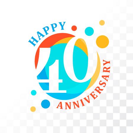 commemoration: 40th Anniversary emblem