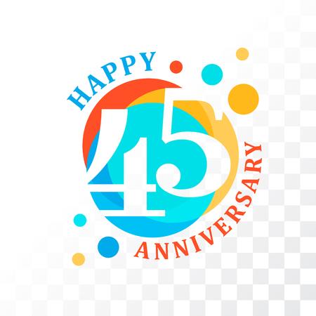 45th: 45th Anniversary emblem Illustration