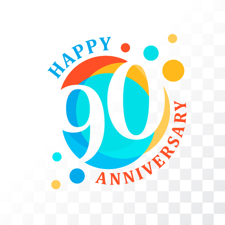 90th: 90th Anniversary emblem