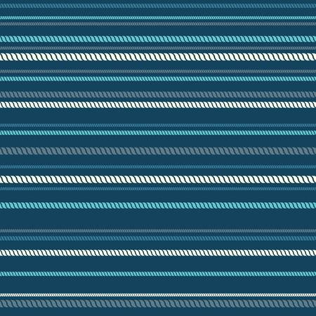overhand: Marine ropes seamless pattern. Linear seamless background. Illustration