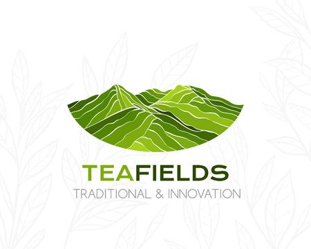 Teeplantage Logo. Konzeptionelle Ikone für Paketdesign