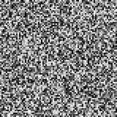 グリッチのテクスチャです。コンピューターまたはテレビ信号のエラーです。デジタル技術の問題。 白黒ピクセルの抽象的な背景。画像データの歪  イラスト・ベクター素材