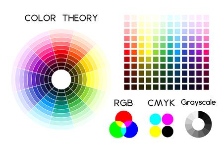 Color wheel and color palette illustration. 일러스트