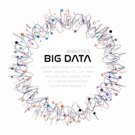 Big data analytics. Abstract background 일러스트