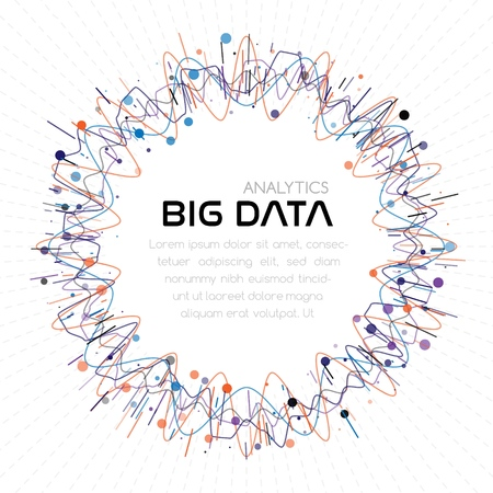 Big data analytics. Abstract background 矢量图像