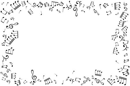 Illustrazione vettoriale cornice note