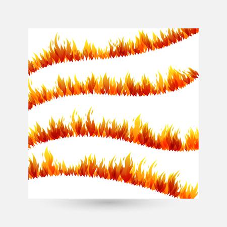 Fire Design collection vector illustration set