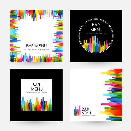 Bar menu design collectie. Frame, kaart en labels.